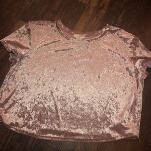 Tops - Velvet Short Pink Top